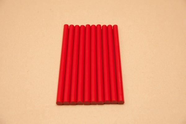Rote Klebesticks für die Heißklebepistole